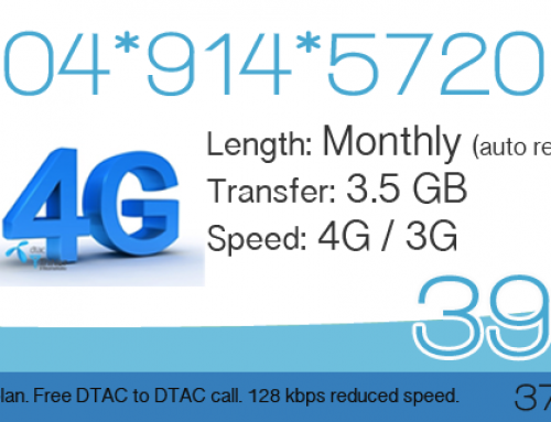 DTAC 3.5 GB 4G data plan for 399 Baht