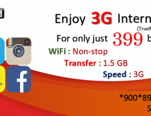 TrueMove 1.5 GB for 399 Baht 1 Month data package